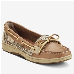 Sperry Top Sider Tan and Gold 7.5
